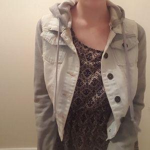 Jackets & Blazers - Crop sweatshirt jean jacket